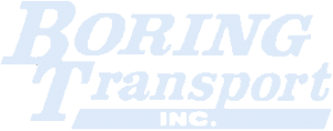 boring transport logo white